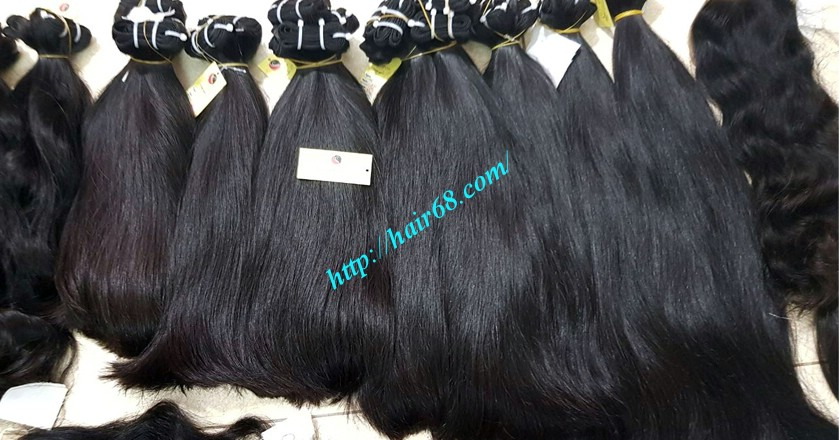 24 inch straight weave hair super double 4