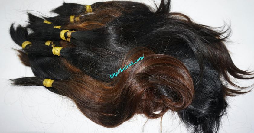 8 inch cheap human hair straight single drawn 2