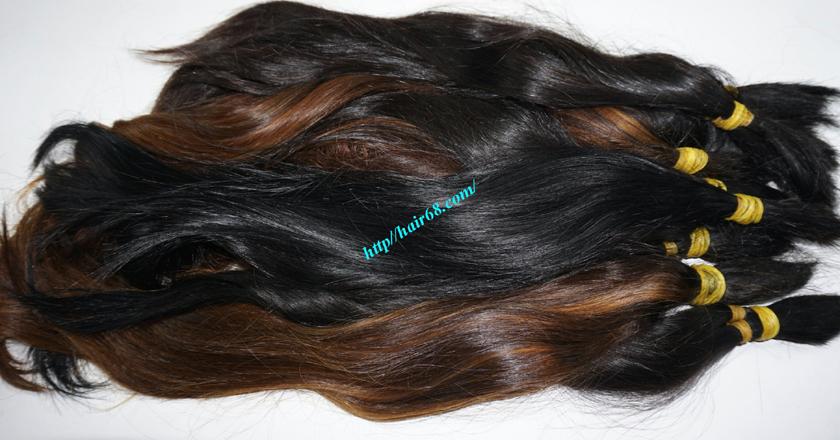 8 inch cheap human hair straight single drawn 3