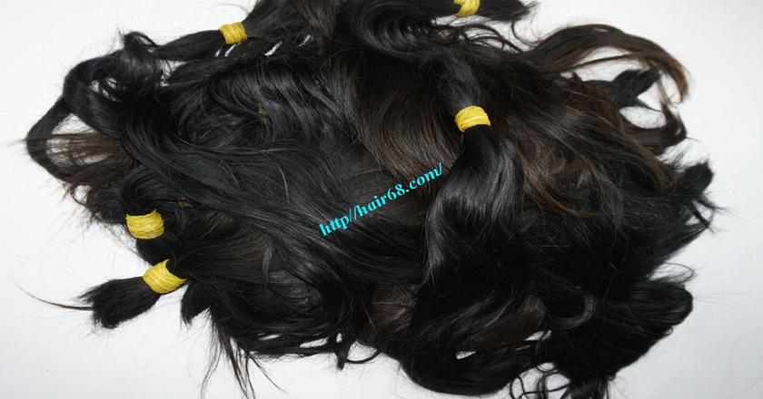 8 inch cheap human hair straight single drawn 4