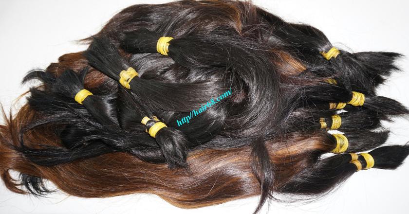 8 inch cheap human hair straight single drawn 5
