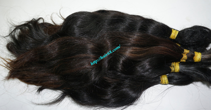 8 inch cheap human hair wavy double drawn 4
