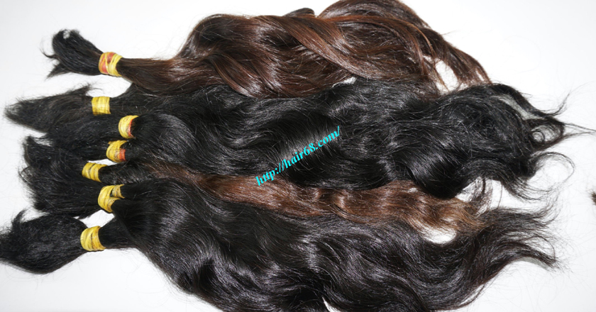 8 inch cheap human hair wavy double drawn 5