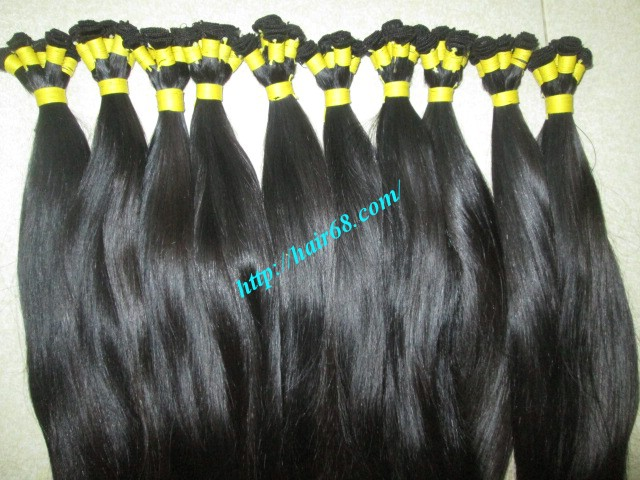 20 inch hand tied weft straight single drawn 3