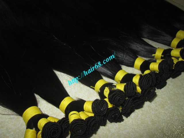 20 inch hand tied weft straight single drawn 4