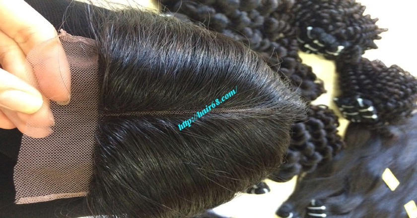 16 inch Vietnamese Hair Middle Lace Closure 2