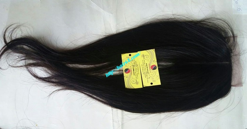 16 inch Vietnamese Hair Middle Lace Closure 4