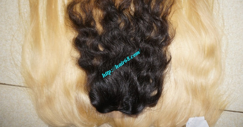 16 inches Middle Part Wavy Lace Closure 4x4 5
