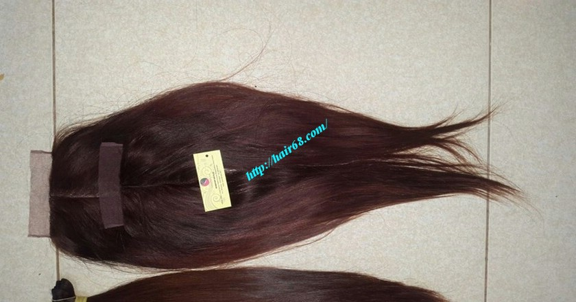 18 nch Vietnamese Hair Middle Lace Closure 1