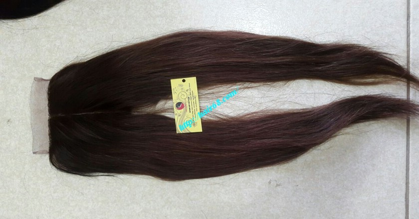 18 nch Vietnamese Hair Middle Lace Closure 3