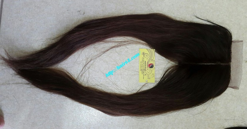 18 nch Vietnamese Hair Middle Lace Closure 4