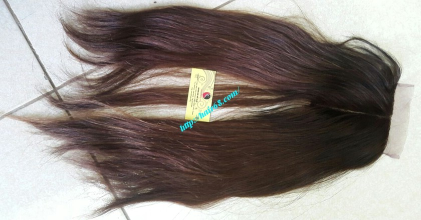 18 nch Vietnamese Hair Middle Lace Closure 5