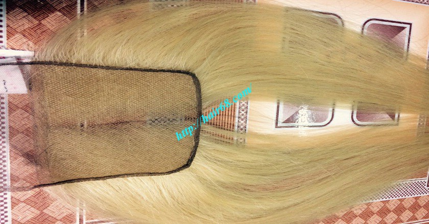 22 inches middle part lace closure straight 1