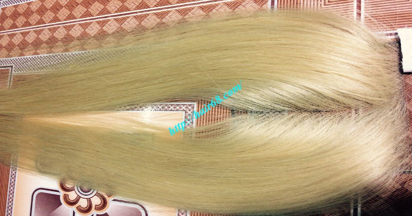 22 inches middle part lace closure straight 3