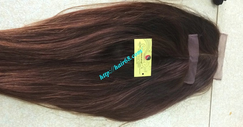 22 inches middle part lace closure straight 4