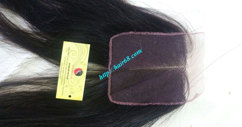 22 inches middle part lace closure straight 5