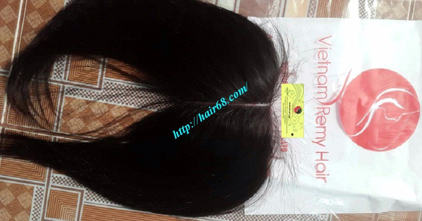 24 inches middle part lace closure straight 4