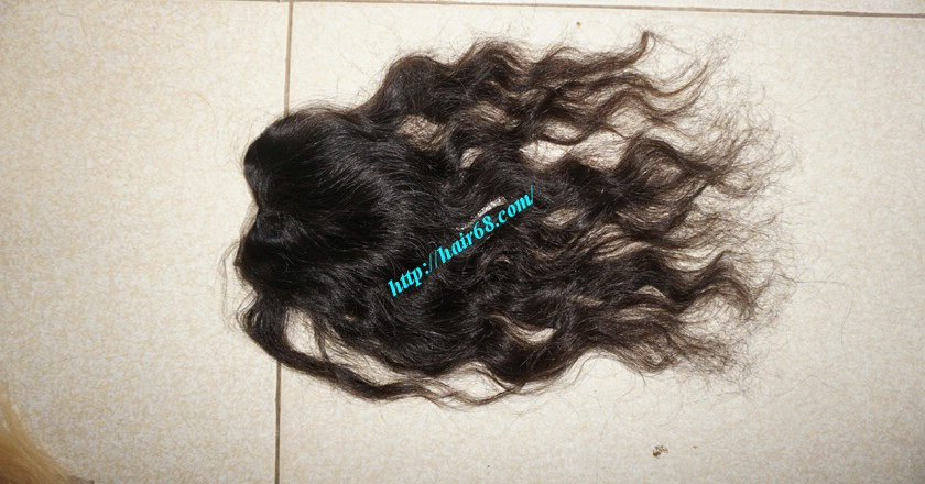 24 inches Middle Part Wavy Lace Closure 4x4 3