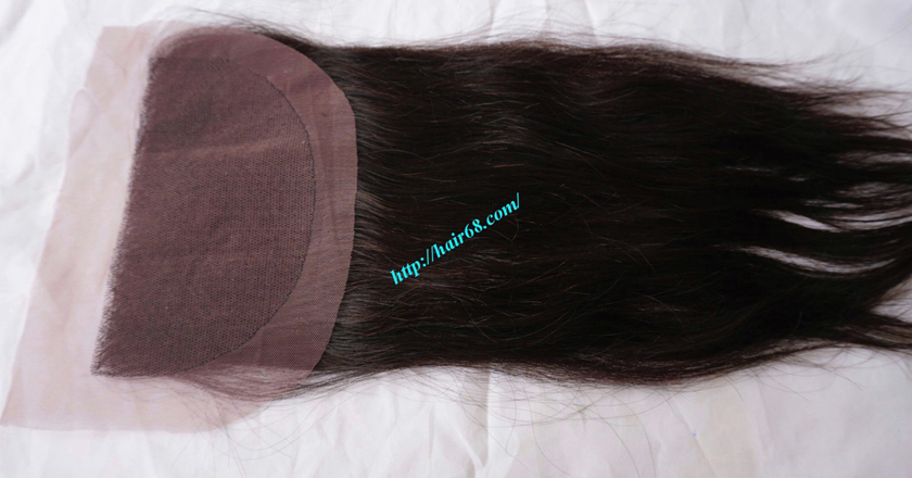 Free Part Lace Closure 7x4 12 inches Vietnamese Straight Hair 8