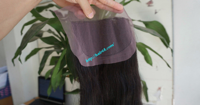 Free Part Lace Closure 7x4 14 inches Vietnamese Straight Hair 5