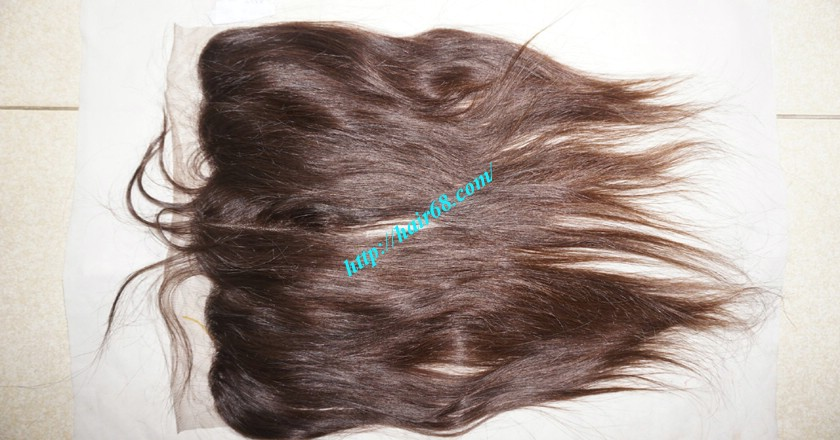 12 inches Vietnamese Hair Straight Free Part Lace Frontal 1