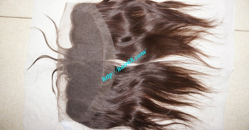 12 inches Vietnamese Hair Straight Free Part Lace Frontal 3