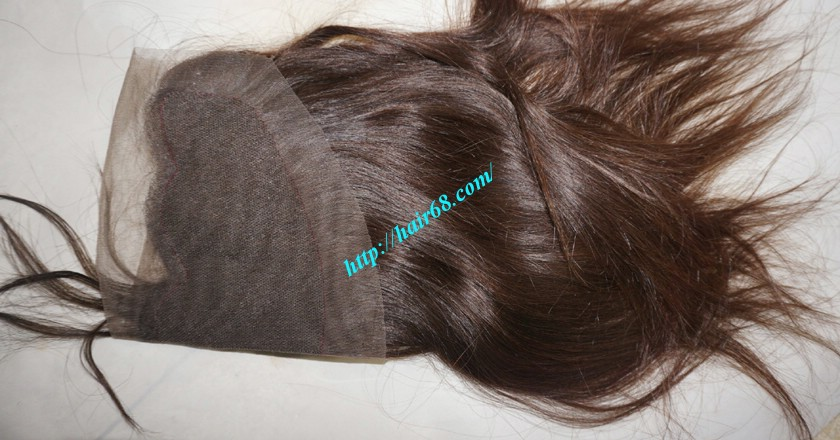 12 inches Vietnamese Hair Straight Free Part Lace Frontal 4
