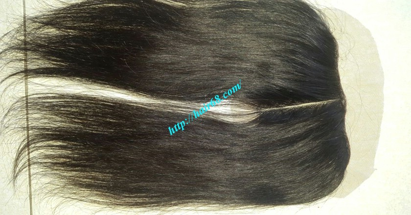 12 inches Vietnamese Hair Straight Free Part Lace Frontal 7