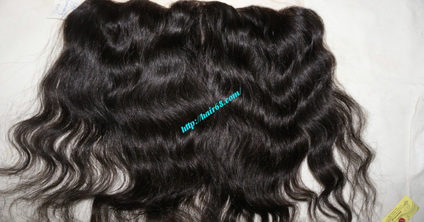 12 inches Vietnamese hair wavy free part lace frontal 1