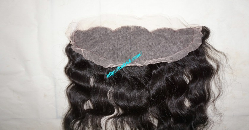 12 inches Vietnamese hair wavy free part lace frontal 3
