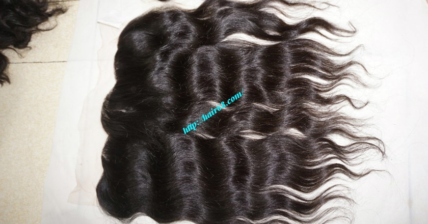 12 inches Vietnamese hair wavy free part lace frontal 4