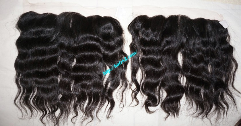 12 inches Vietnamese hair wavy free part lace frontal 5