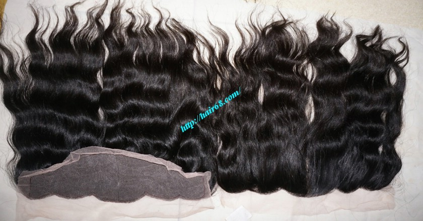 12 inches Vietnamese hair wavy free part lace frontal 6
