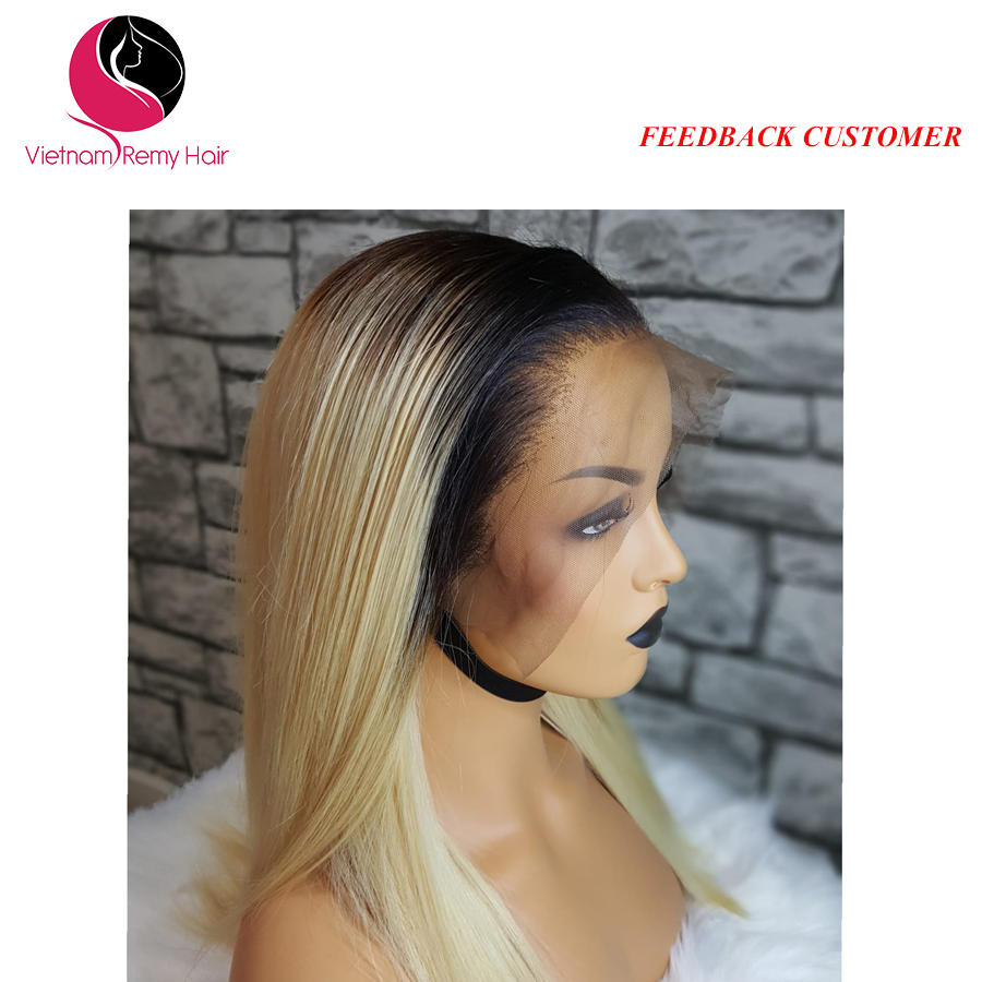 Take care lace front wigs human hair straight 2