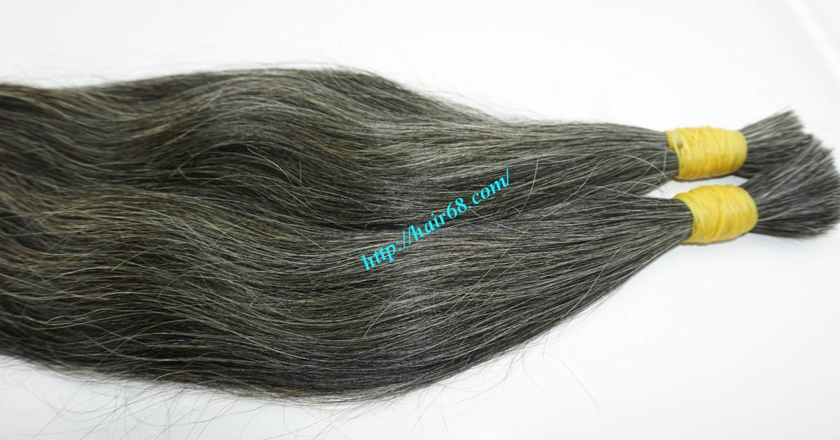 10 inch grey hair extensions 3