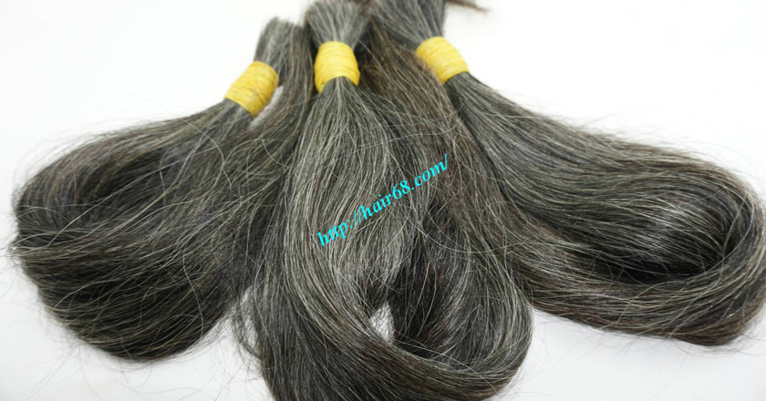 10 inch grey hair extensions 5
