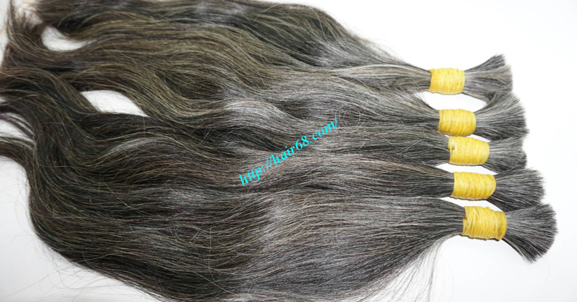 10 inch grey hair extensions 7