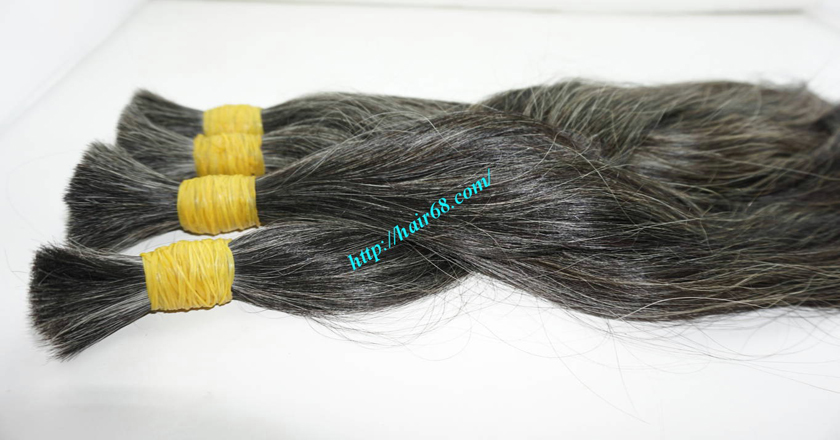 10 inch cheap grey hair extensions 1