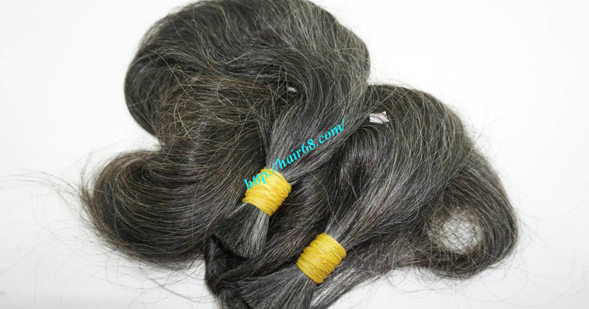 10 inch cheap grey hair extensions 3
