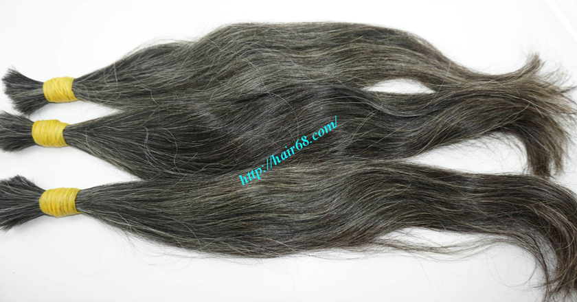 10 inch cheap grey hair extensions 5