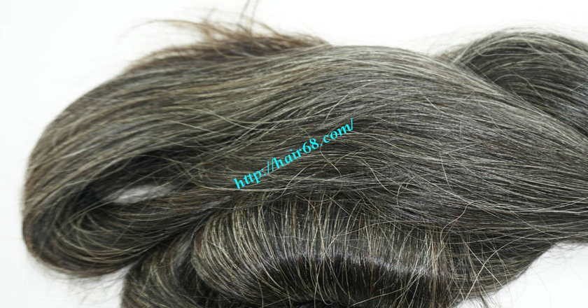 10 inch cheap grey hair extensions 6