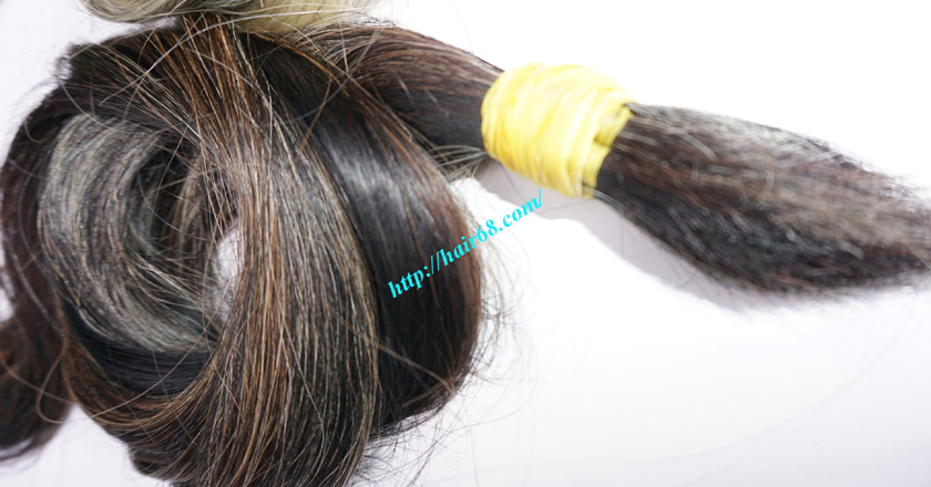 10 inch cheap grey hair extensions 7