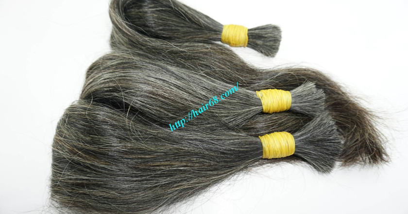 10 inch cheap grey hair extensions 8