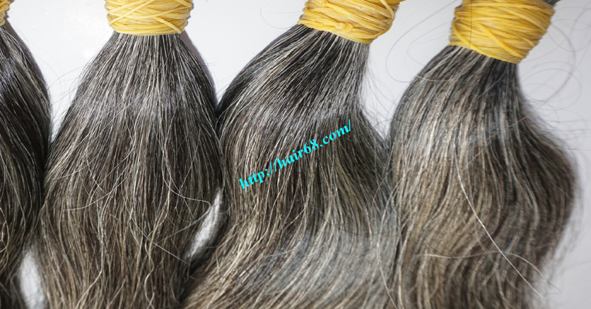 grey human hair extensions 1
