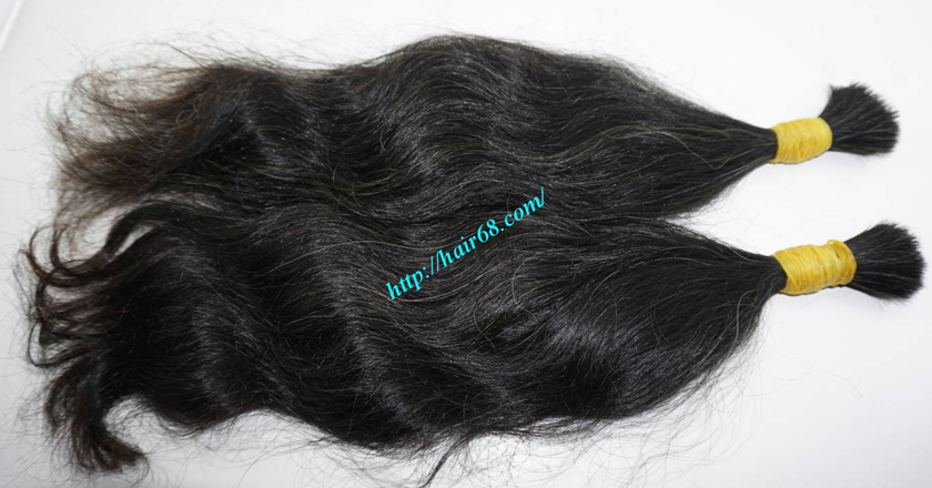 grey human hair extensions 2
