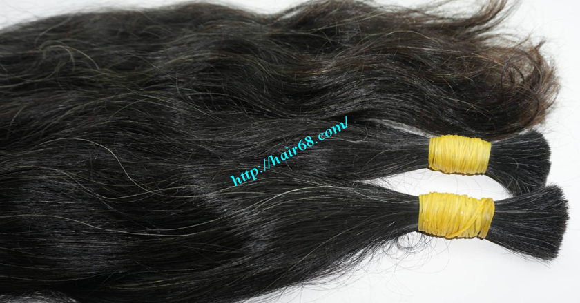 grey human hair extensions 3