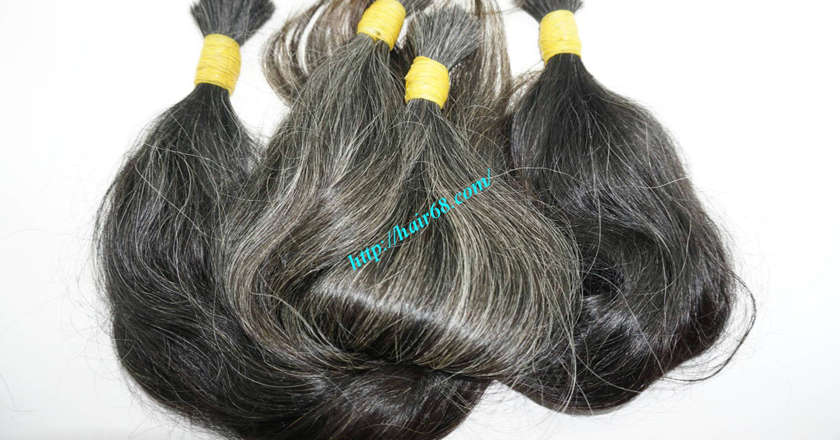 grey human hair extensions 4