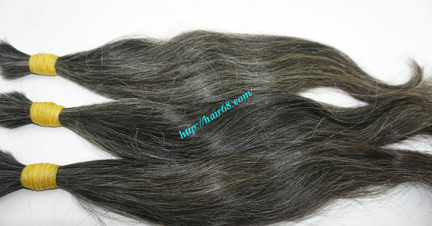 12 inch natural grey human hair 4