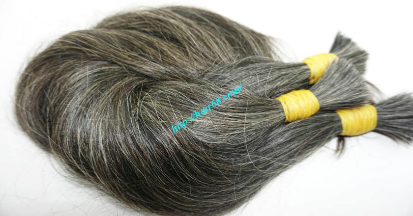 12 inch natural grey human hair 5
