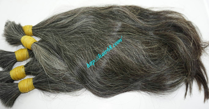 12 inch natural grey human hair 7
